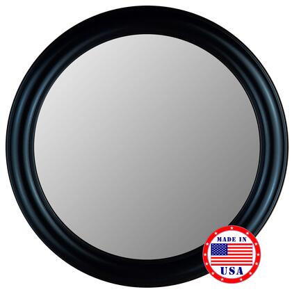 "Hitchcock Butterfield 772303X 33"" x 33"" True Glossy Black Framed Wall Mirror"