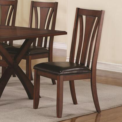 Coaster 103122 Ema Series Casual Vinyl Wood Frame Dining Room Chair