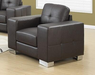"""Monarch I 8221XX 40"""" Chair with Removable Cushion, Oversized Arms and Tufted Design"""