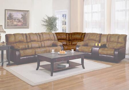 Coaster 500623W Contemporary Brown Padded Microfiber Wood Frame  Recliners