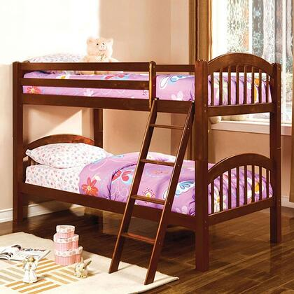 Furniture of America CMBK524CHBED Coney Island Series  Twin Size Bunk Bed