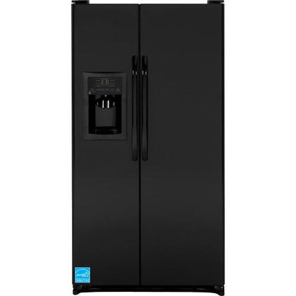 GE GSF25JGD 25.25 Cu. Ft. Side-By-Side Refrigerator With Ice And Water Dispenser, 4 Gallon Door Bins, and Water Filtration
