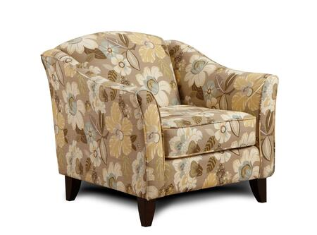Armen Living US4521X Mindy Chair with California Fire Retardant (CFR) Rated and Multicolored Fabric Upholstery in