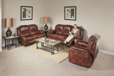 Novo Home 70601RR Ventura Series Leather Stationary with Wood Frame in Brown