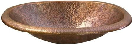 Oval Self Rimming Lavatory Basin with Hammerd Antique Copper Finish (Regular View)