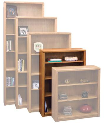 Legends Furniture CC6648LTO Contemporary Series Wood 3 Shelves Bookcase