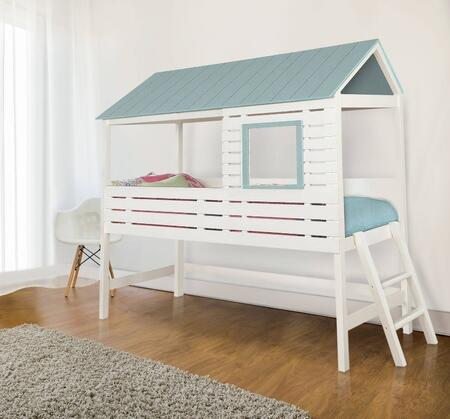Furniture of America CM7135BED Omestad Series  Twin Size Loft Bed