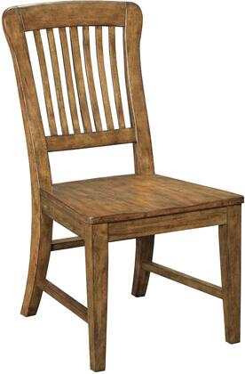 """Broyhill New Vintage 480X-581 20"""" Wide School House Wood Seat Side Chair with Distressing, Ladder Back Design and Tapered Legs in"""