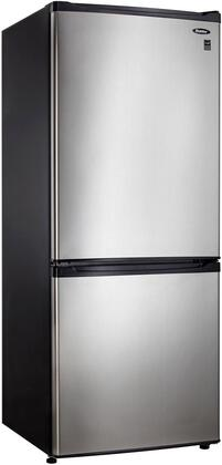 Danby DFF261BSLDB  Counter Depth Bottom Freezer Refrigerator with 9.2 cu. ft. Total Capacity 2 Glass Shelves