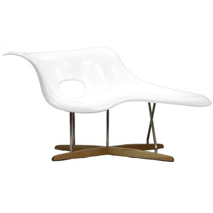 Modway EEI526WHI Ameoba Series Modern Not Upholstered Chaise Lounge