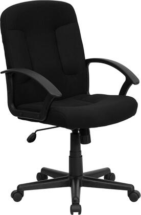 "Flash Furniture GO-ST-6-XX-GG 17.25"" Mid-Back Fabric Task and Computer Chair with Nylon Arms, Spring Tilt Control Mechanism, Tilt Lock Mechanism, Heavy Duty Nylon Base, and Dual Wheel Casters"