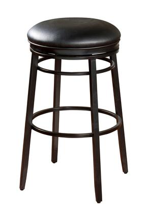 American Heritage Silvano Series 1XX923BLK Transitional Backless Stool with Full Bearing Swivel and Adjustable Leg Levelers Finished in Black with Black Vinyl