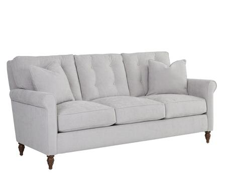 "Klaussner Holland Collection D84000-S- 85"" Sofa with Rolled Arms, Down Blend Cushions and Turned Legs in"