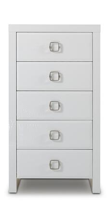 """VIG Furniture A&X Glam VGUNAW5506 24"""" Chest with 5 Drawers, Laser Etched Crocodile Texture and Square Metal Handles in High Gloss Lacquer"""