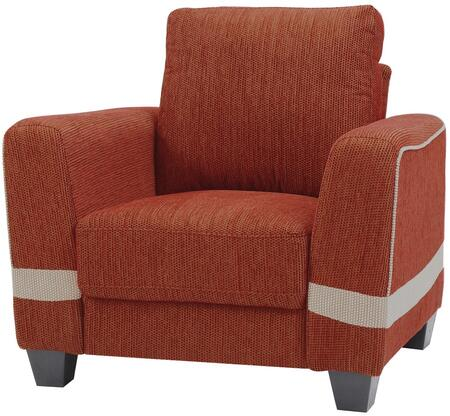 Glory Furniture G338C Fabric Armchair in Red and Beige