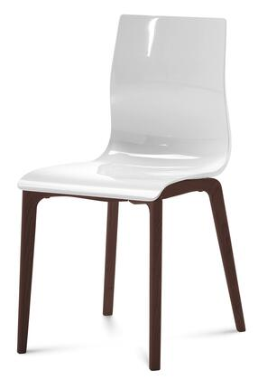 Domitalia GELSLSFCHSSBI Gel Series Transitional Wood Frame Dining Room Chair