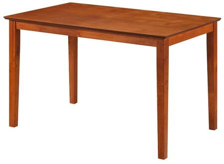"Glory Furniture 48"" Dining Table with Rectangular Shape, Tapered Legs and Wood Veneers Construction in Finish"
