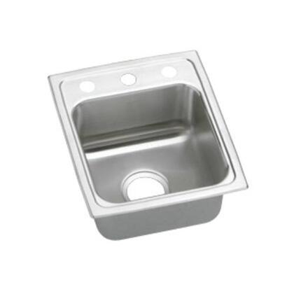 """Elkay LRAD1517650 15"""" Top Mount Self-Rim Single Bowl ADA Compliant  18-Gauge Stainless Steel Sink With"""