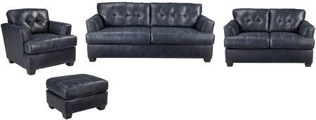 Milo Italia MI6925SLCONAVY Brooklynn Living Room Sets