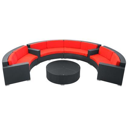 Modway EEI612EXPREDSET Modern Round Shape Patio Sets