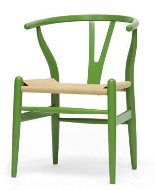 Wholesale Interiors DC541DARKGREEN Wishbone Series  Accent Chair