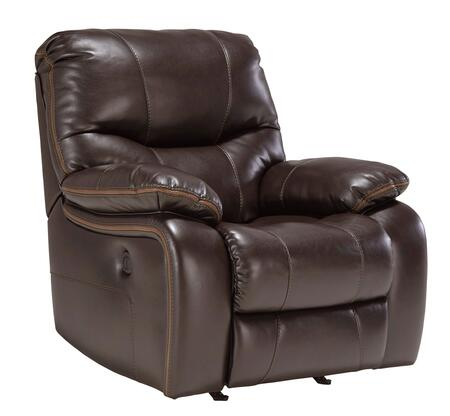 Milo Italia Sierra MI-5309CTMP Rocker Recliner with Plush Padded Arms, Thick Divided Back Cushion and Contrasting Trim in Brindle