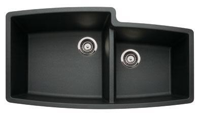 Blanco 44007 Performa Silgranit 1 & 3/4 Bowl Undermount Kitchen Sink