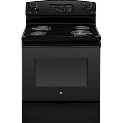 "GE JB250DFBB 30"" Electric Freestanding Range with Coil Element Cooktop, 5.3 cu. ft. Primary Oven Capacity, Storage in Black"