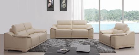 VIG Furniture VGKNK8463BGE Modern Leather Living Room Set