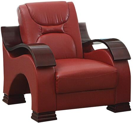 Glory Furniture G489C Faux Leather Armchair in Red