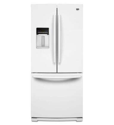 """Maytag MFW2055YEW 30""""  French Door Refrigerator with 19.6 cu. ft. Total Capacity 3 Glass Shelves 
