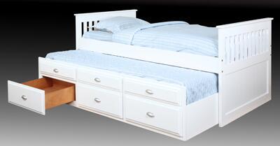 Bernards 3042TRV  Twin Size Captains Bed