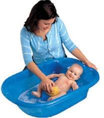 347B EuroBath (Blue) and Folding Bath Stand