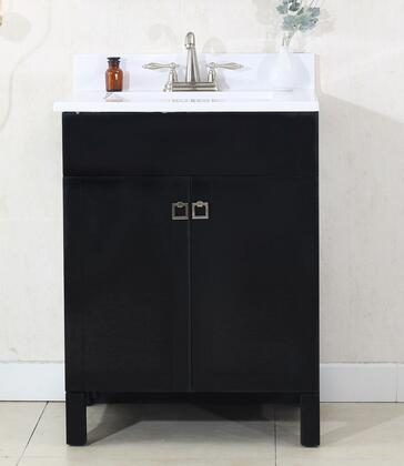 "Legion Furniture WLF7020 24"" Sink Vanity with Cultural Marble Top, 2 Soft Closing Doors and Pre-Drilled Faucet Hole in"