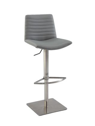 Chintaly 0572AS Ribbed Back And Seat Pneumatic Stool