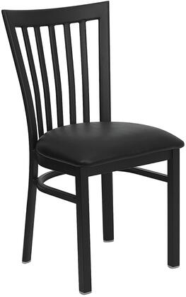 "Flash Furniture HERCULES Series XU-DG6Q4BSCH-XXV-GG 17.25"" Heavy Duty School House Back Metal Restaurant Chair with Vinyl Seat, Commercial Design, 18 Gauge Steel Frame, and Plastic Floor Glides"