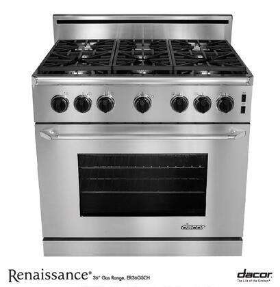 """Dacor ER36GISCHLP 36"""" Renaissance Series Gas Freestanding"""