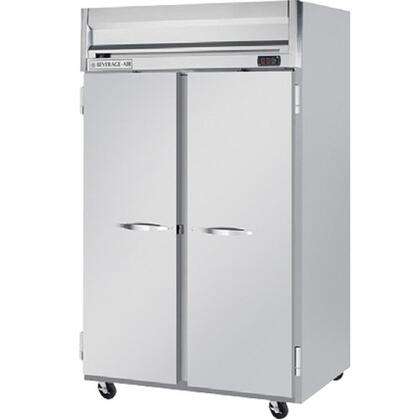 Beverage-Air HRP2-1 Horizon Series Two Sections [Solid Door] Reach-In Refrigerator, 49 cu.ft. capacity, Stainless Steel Front and Sides, Aluminum Interior