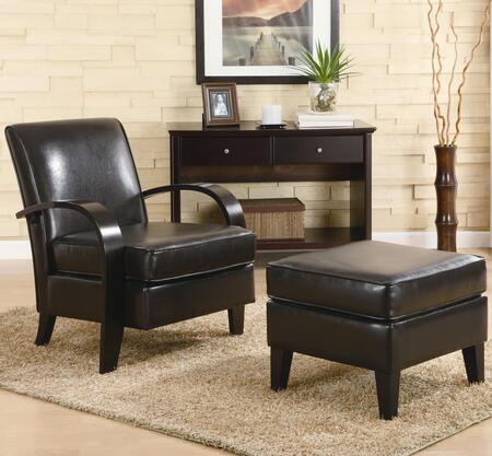 Coaster 900242 Club Bonded Leather Wood Frame Accent Chair