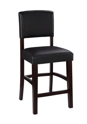 Linon 0217VESP01KDU Monaco Series Residential or Commircial PVC Upholstered Bar Stool