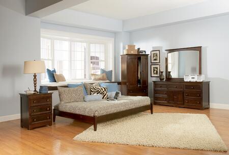 Atlantic Furniture CONOFCLKG Concord Series  Bed
