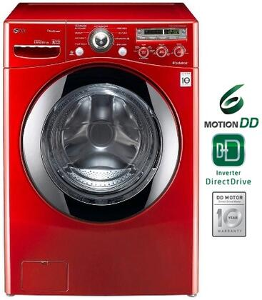 LG WM2650HRA Steamwasher Series 3.6 cu. ft. Front Load Washer, in Red