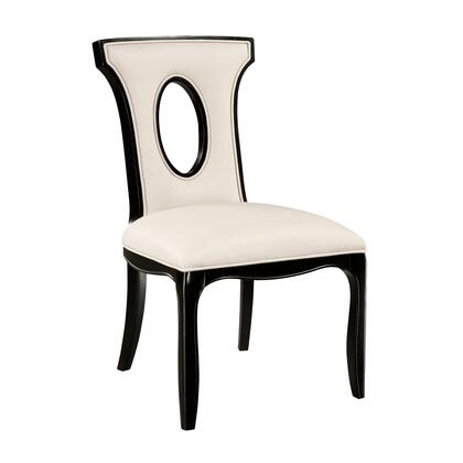 Sterling 6070922 Alexis Series Contemporary Bonded Leather Wood Frame Dining Room Chair