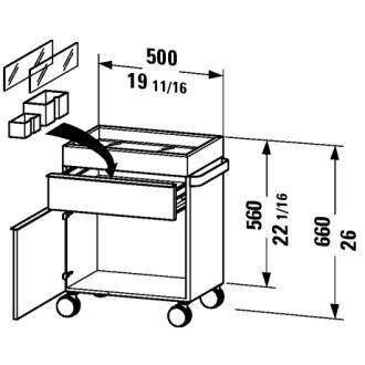 Duravit 9396R24  Cabinet