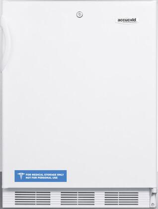 "AccuCold FF6LBI7 34"" FF6BI7ADA Series ADA Compliant, Medical, Commercially Listed Freestanding or Built In Compact Refrigerator with 5.5 cu. ft. Capacity, Door Lock, Interior Light, Crisper and Auto Defrost:"