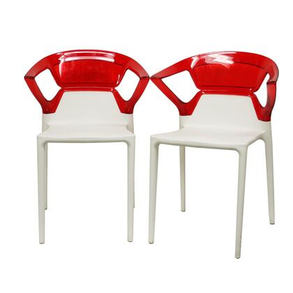 Wholesale Interiors SWAPARMCHAIRRED Swap Series  Dining Room Chair