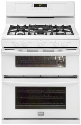 "Frigidaire FGGF304DLW 30"" Gallery Series Gas Freestanding Range with Sealed Burner Cooktop, 3.5 cu. ft. Primary Oven Capacity, Oven in White"