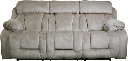 Signature Design by Ashley 8650487 Stricklin Series Reclining Fabric Sofa
