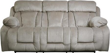 Milo Italia MI644832PPEBB Landen Series Reclining Fabric Sofa