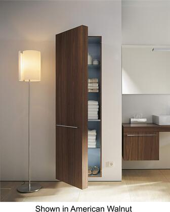 "Duravit Fogo FO9547L 69"" Tall Cabinet with 3 Glass Shelves, 1 Wooden Shelf, and Shelves Behind the Door with Left Hinge in"